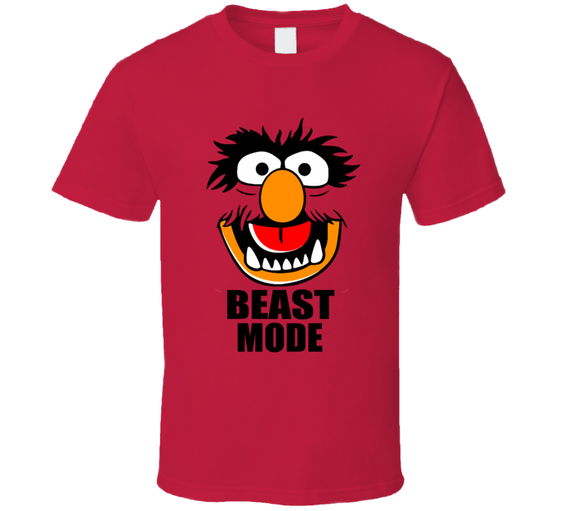 Animal Muppets Beast Mode Funny Face T Shirt