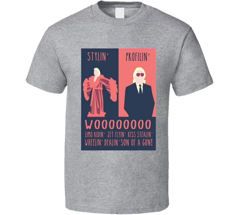 Ric Flair Stylin' And Profilin' Wrestling Nature Boy Cool T Shirt