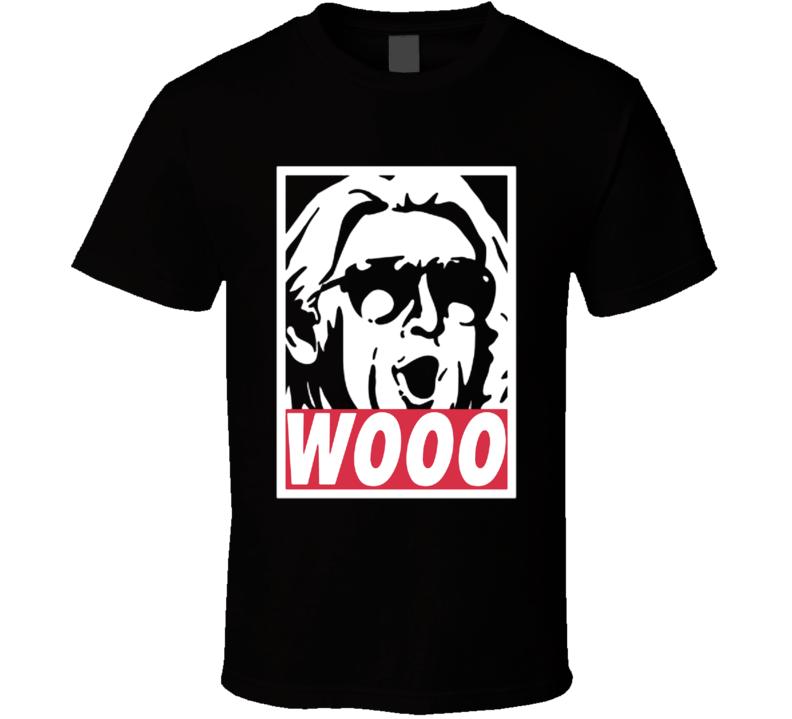 Ric Flair Wooooo Wrestling Legend Nature Boy T Shirt