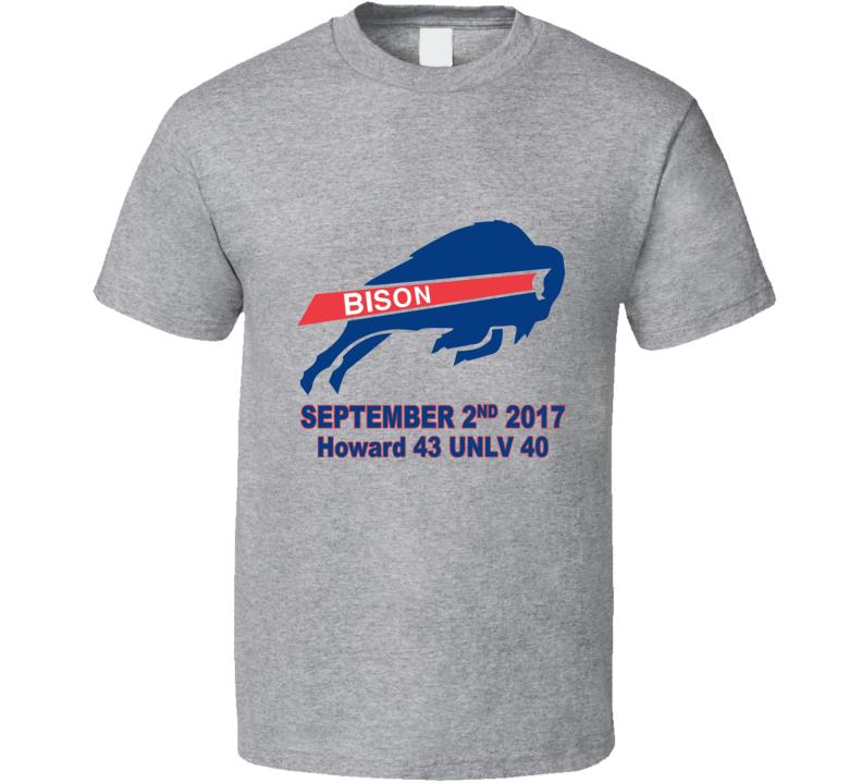 Howard Upset College Football Unlv Sports Victory T Shirt