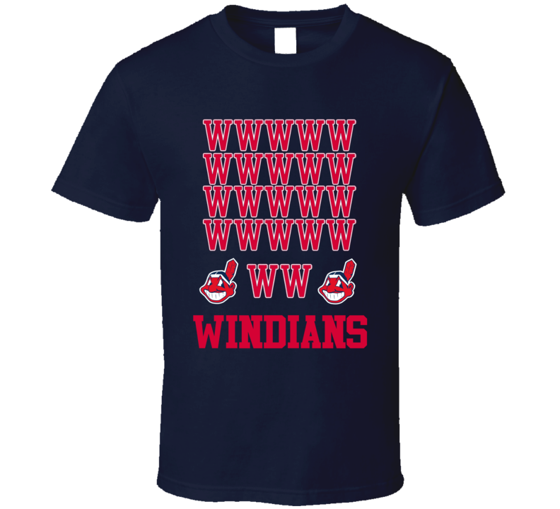Cleveland Indians Windians 22 Wins In A Row Streak Baseball T Shirt