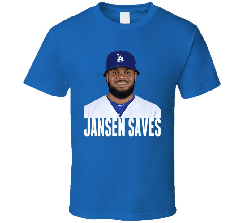 Kenley Jansen Saves Los Angeles Closer Pitcher Baseball T Shirt