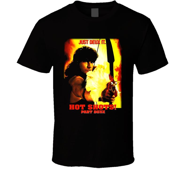 Hot Shots Part Deux Funny Charlie Sheen Movie T Shirt