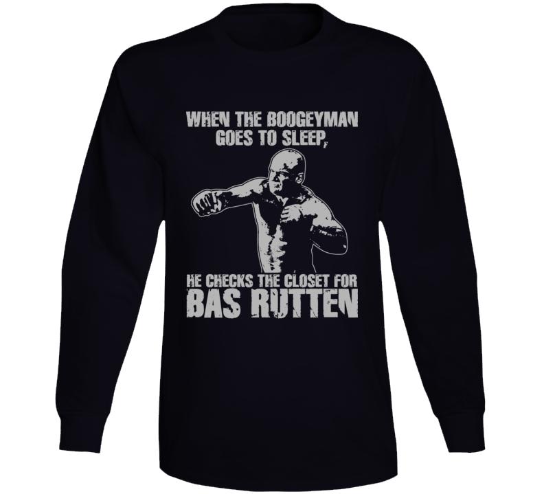 Bas Rutten Mma Fighter Long Sleeve T Shirt