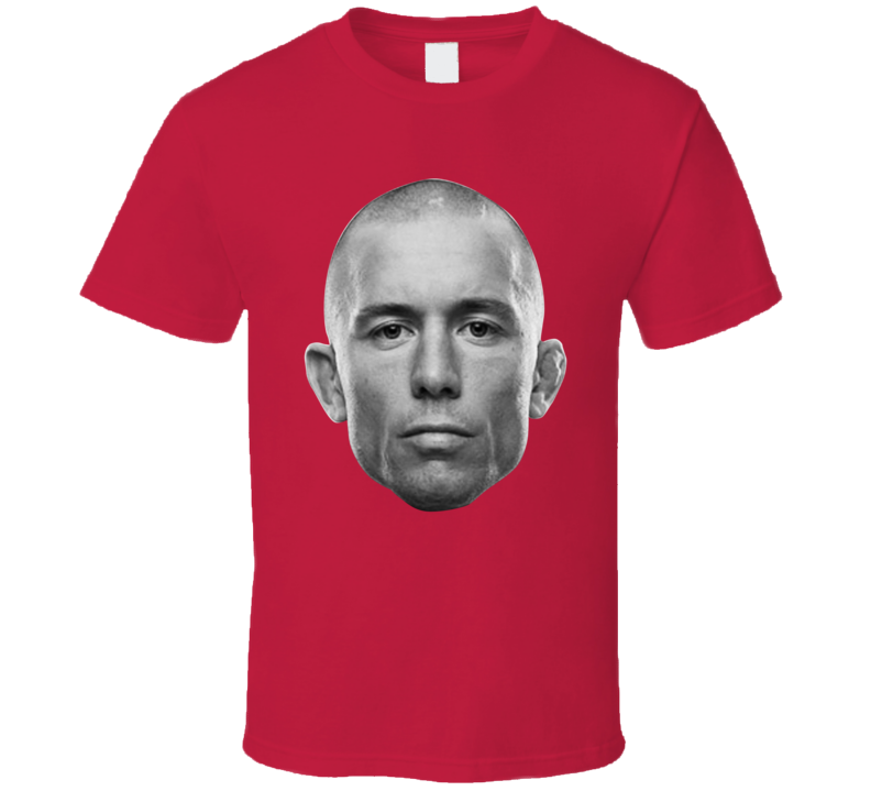 George St Pierre Gsp Mma Fighter Giant Head T Shirt