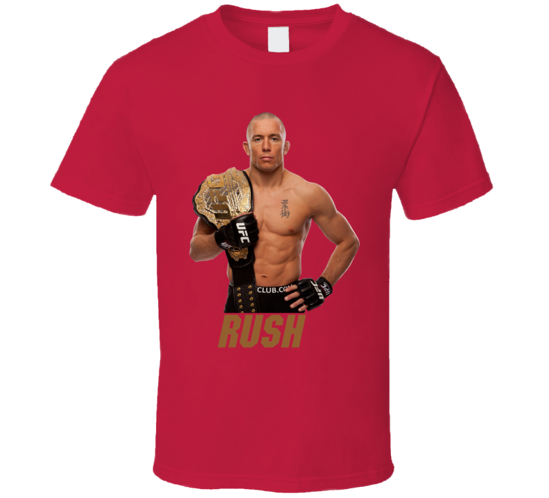 George St Pierre Gsp Rush Mma Fighter T Shirt