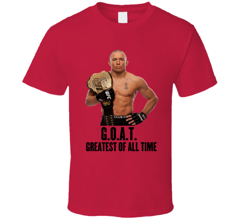 George St Pierre Gsp Goat Mma T Shirt