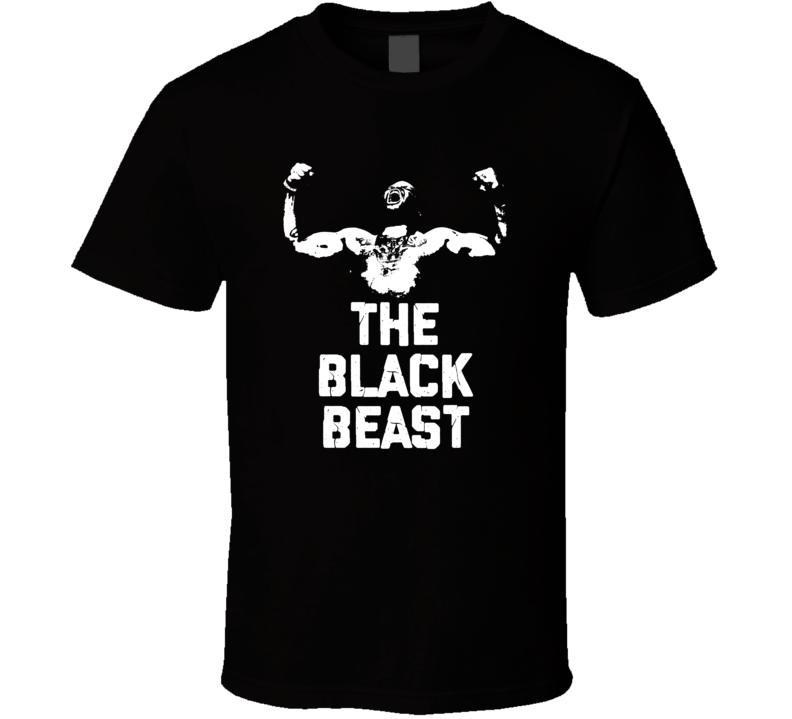 Derrick Lewis The Black Beast Silhouette Mma Fighter Fan T Shirt