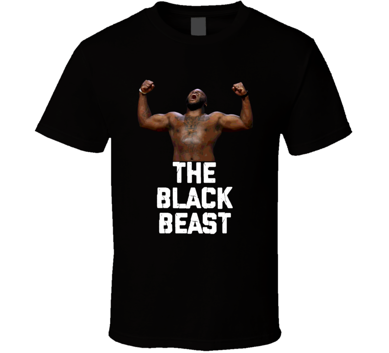 Derrick Lewis The Black Beast Funny Mma Fighter Cool Fan T Shirt