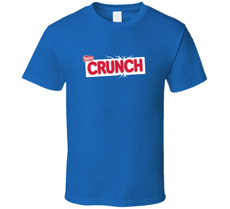 Crunch Chocolate Bar Snack Junk Food Fan Cool T Shirt