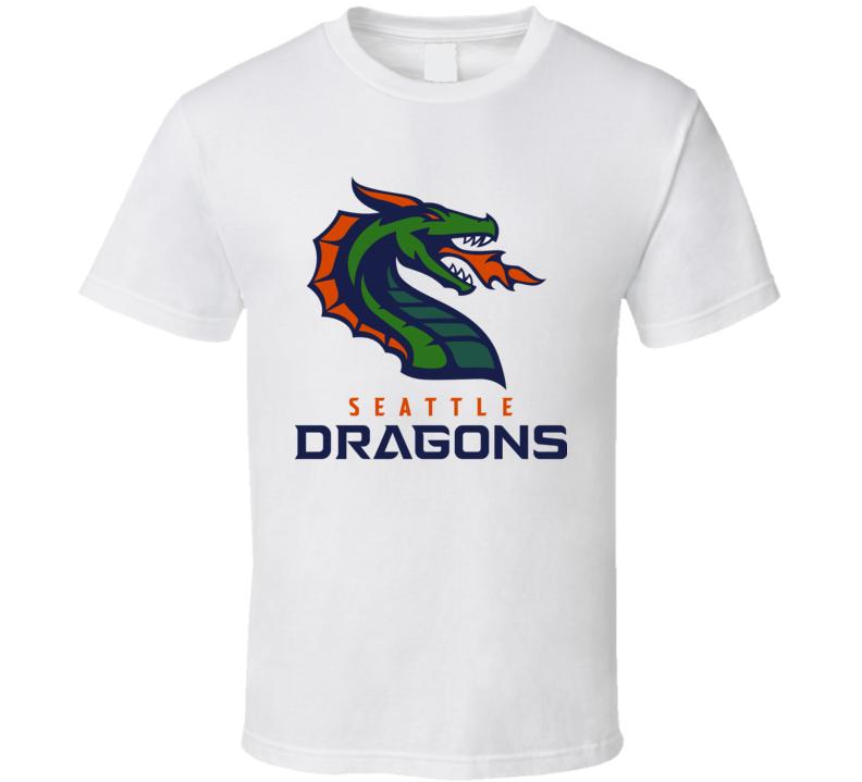 Seattle Dragons Xfl Team Logo Football Fan T Shirt