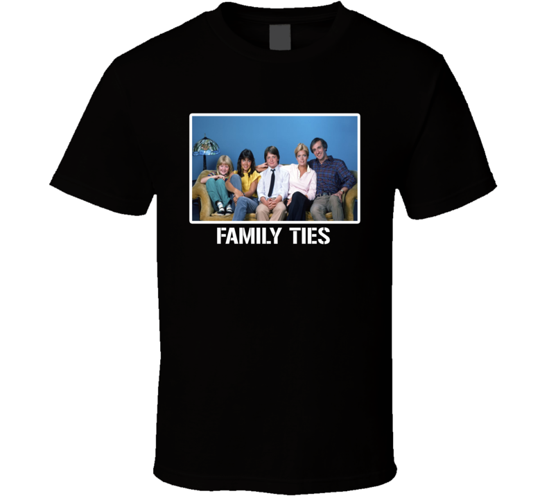 Family Ties Cast 80s Retro Tv Show T Shirt