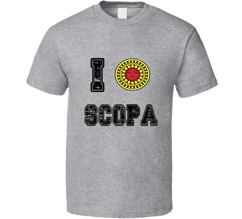 I Love Scopa Heart Italian Card Game Fun T Shirt