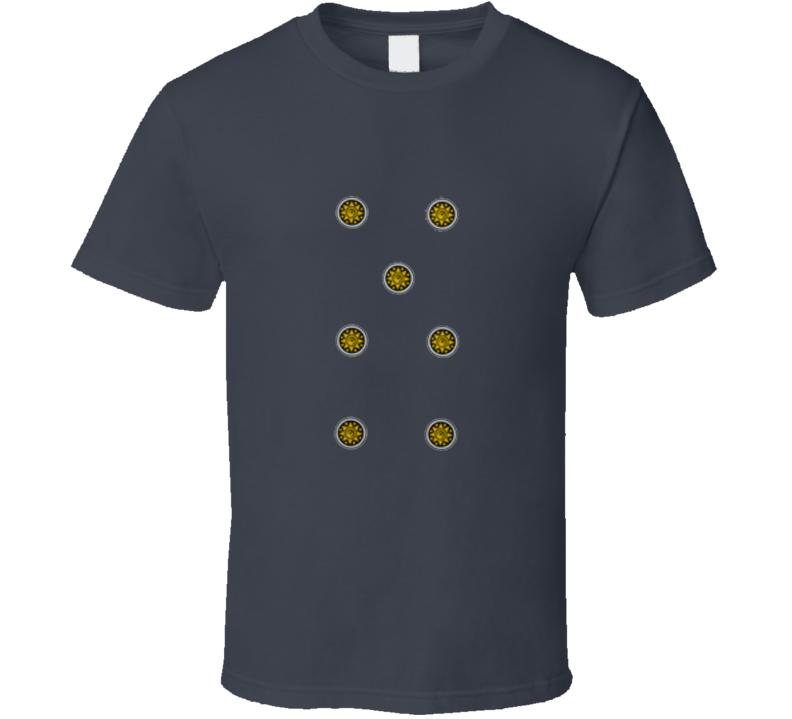 7 Seven Denari Coins Italian Cards Scopa Briscola T Shirt