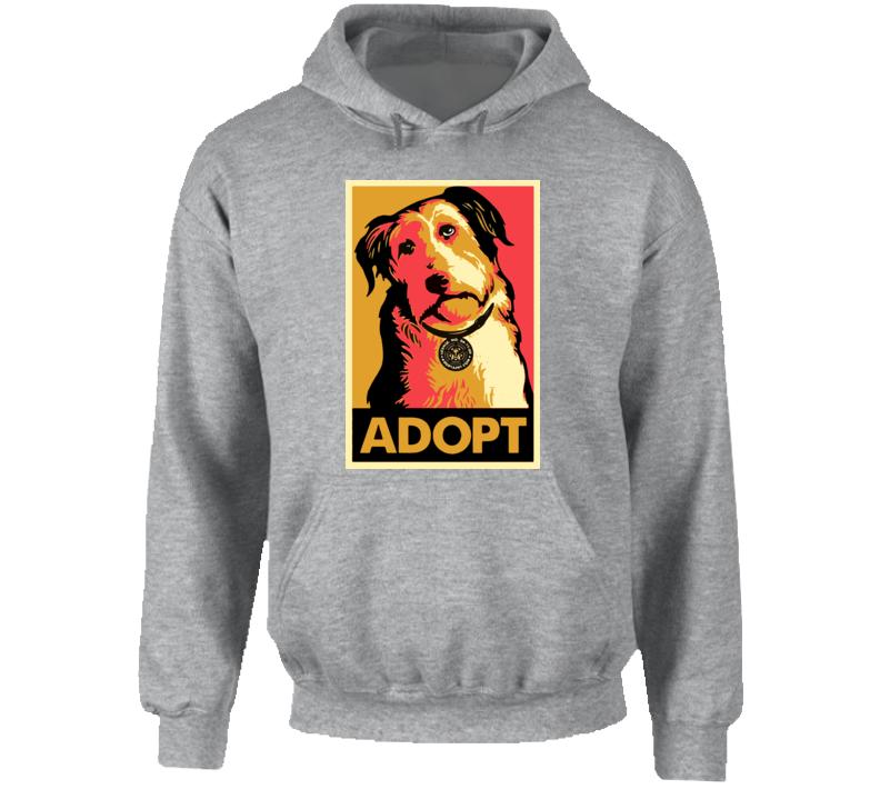 Adopt Dog Animal Lover Peta Pullover Hoodie