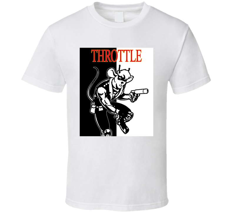 Throttle Biker Mice From Mars Retro Cartoon T Shirt