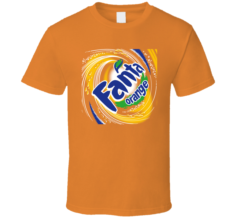 Fanta Orange Soda Pop Crush Junk Food T Shirt