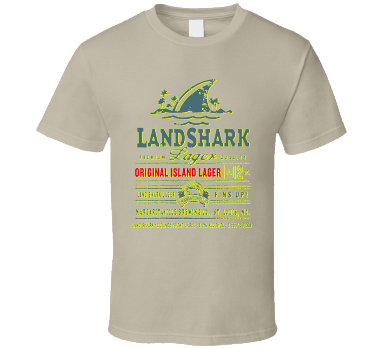 Jimmy Buffet Beer Landshark Fins Up T Shirt