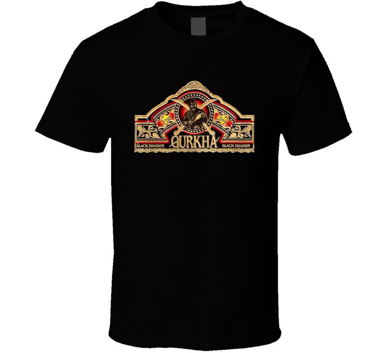 Black Dragon Gurkha Cigar Smoke Honduras T Shirt