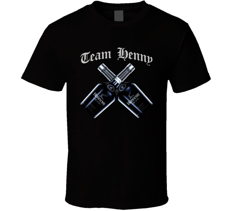 Team Henny Black Bottle Scotch Cognac Whiskey T Shirt