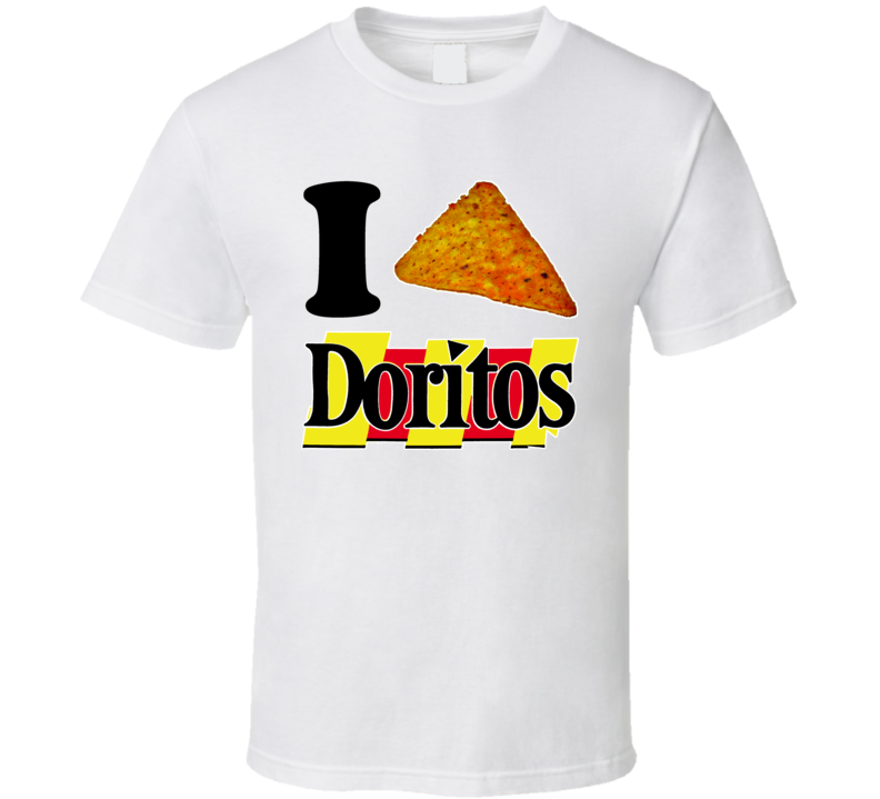 I Heart Love Doritos Chips Nacho Cool Ranch T Shirt