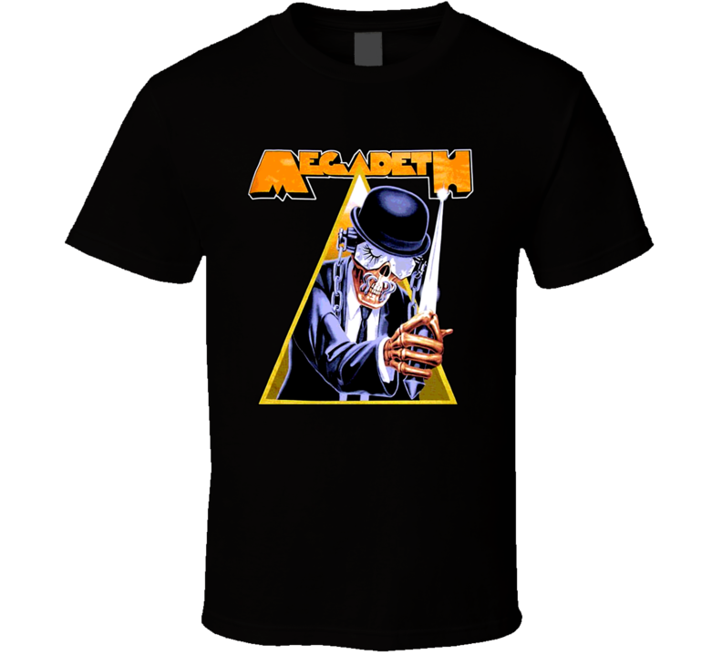 Megadeth Metal Rock N Roll Clockwork Orange Retro T Shirt