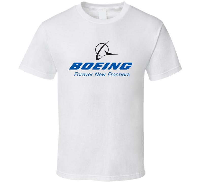 Boeing Airplane Logo White T Shirt