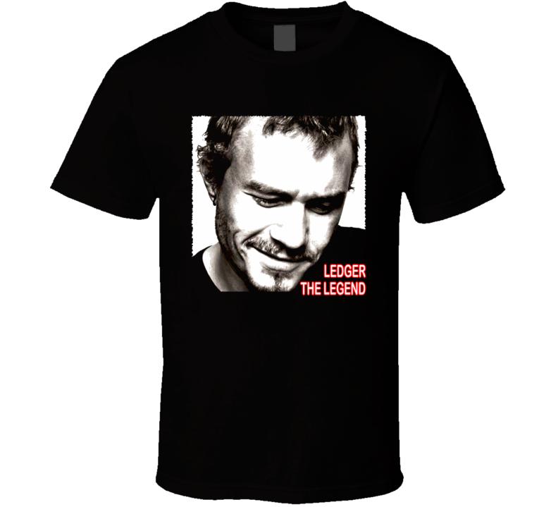 Heath Ledger The Legend Actor Tribute T Shirt