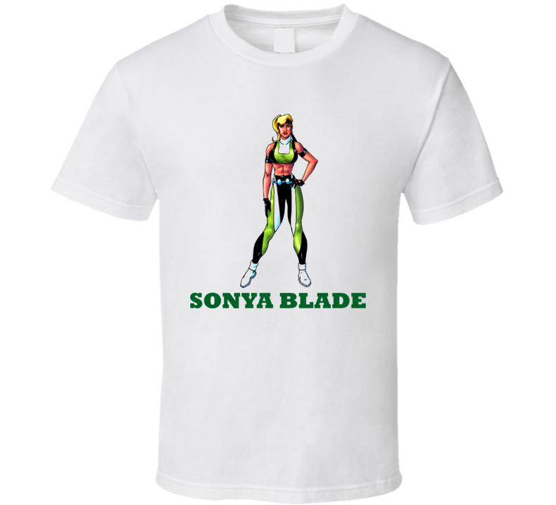 Sonya Blade Mortal Kombat Video Game Fighting T Shirt