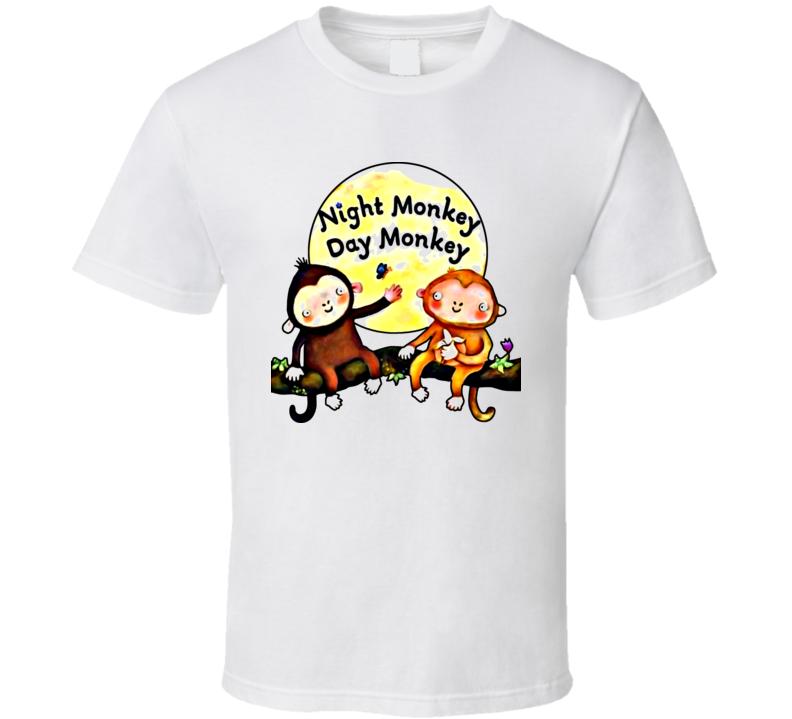 Night Monkey Day Monkey T Shirt