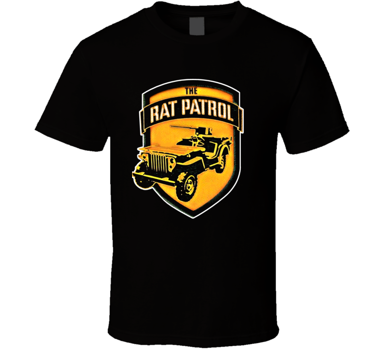 Rat Patrol Retro TV Show 60s T Shirt