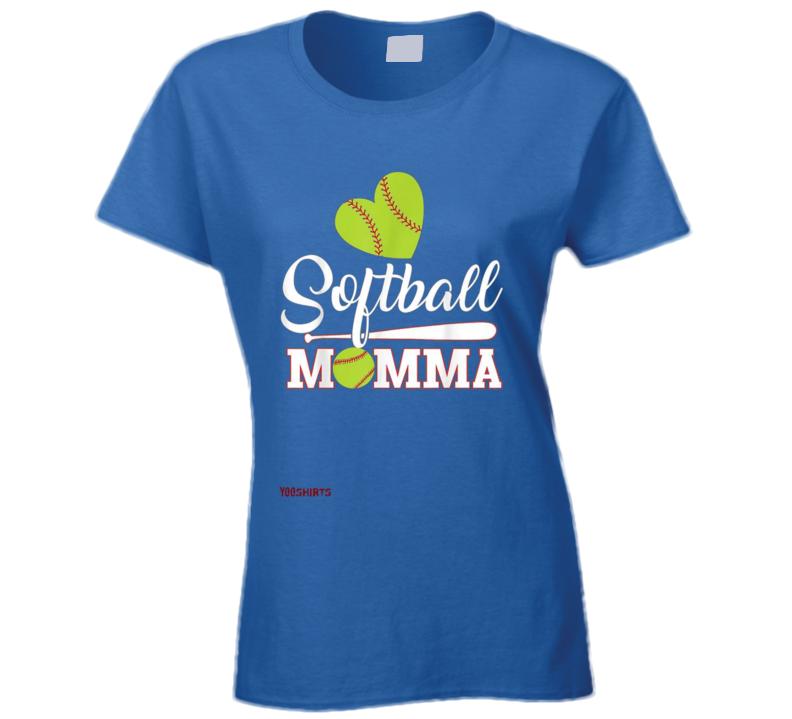 Softball Momma Ladies T Shirt