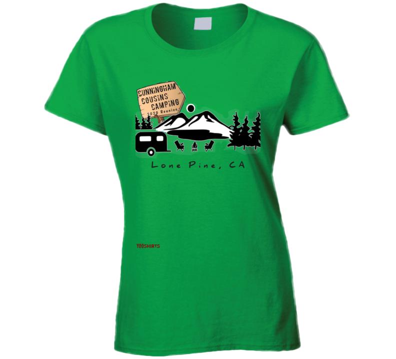 Camping Ladies T Shirt