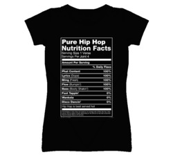 Pure Hip Hop Nutrition Facts Funny Graphic T Shirt