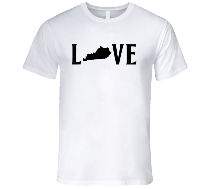 Love Kentucky US State American Silhouette Graphic T Shirt