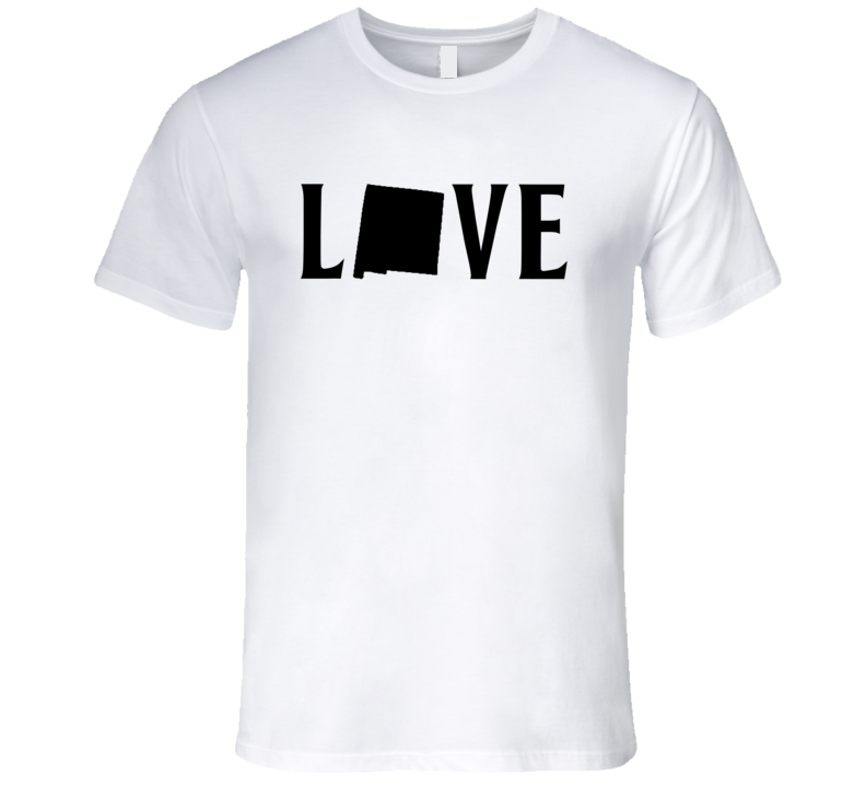 Love New Mexico US State American Silhouette Graphic T Shirt