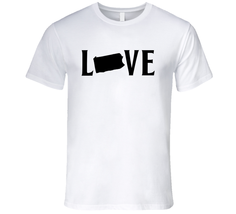 Love Pennsylvania US State American Silhouette Graphic T Shirt