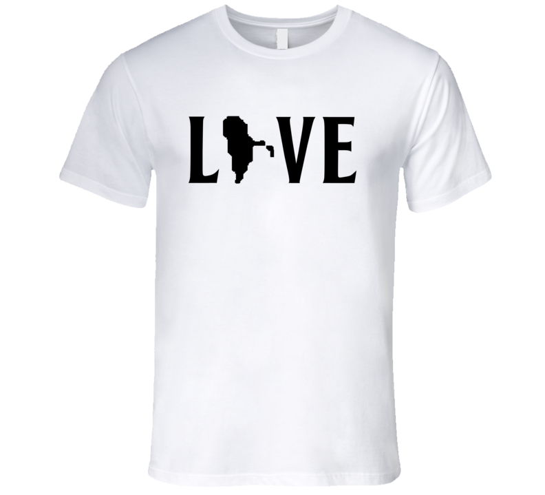 Love Rhode Island US State American Silhouette Graphic T Shirt