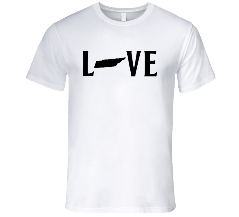 Love Tennessee US State American Silhouette Graphic T Shirt