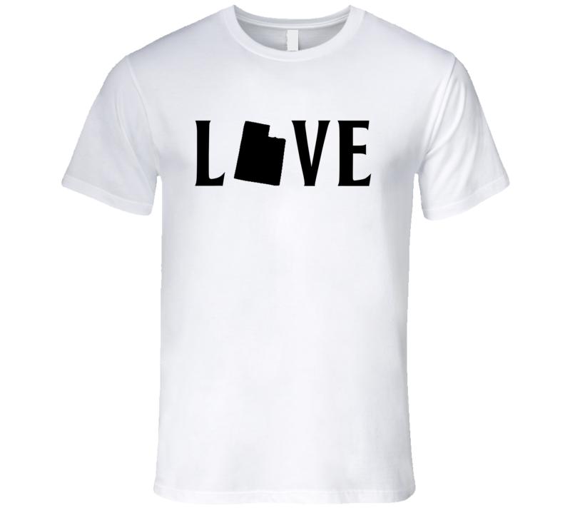 Love Utah US State American Silhouette Graphic T Shirt