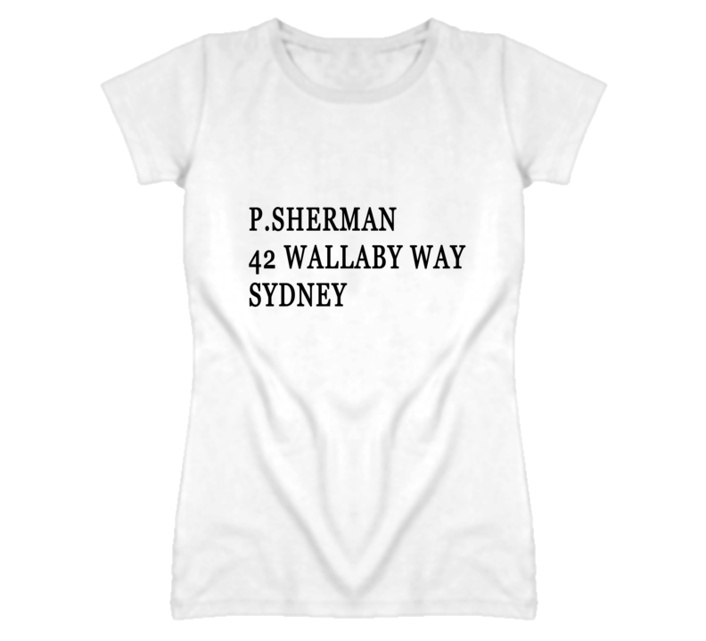 P. Sherman 42 Wallaby Way Popular Finding Nemo Movie Graphic T Shirt