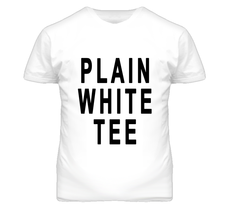 Plain White Tee Popular Graphic T Shirt