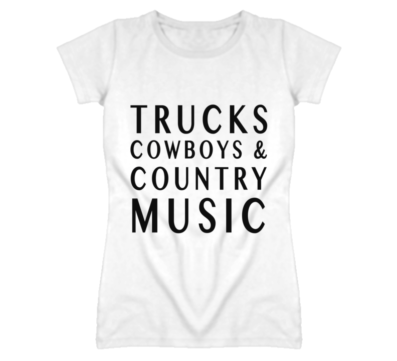 Trucks Cowboys And Country Music Graphic T Shirt