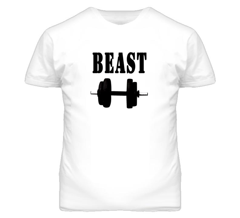 Beast Gym Weight Lifting  T Shirt