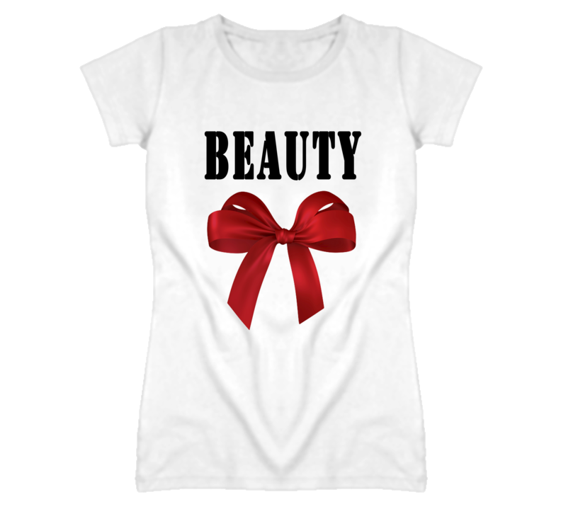 Beauty Red Bow Popular Couples T Shirt