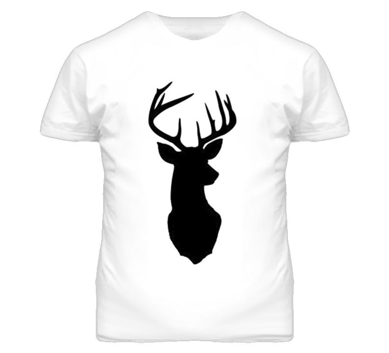 Deer Head Antlers Silhouette Nature T Shirt
