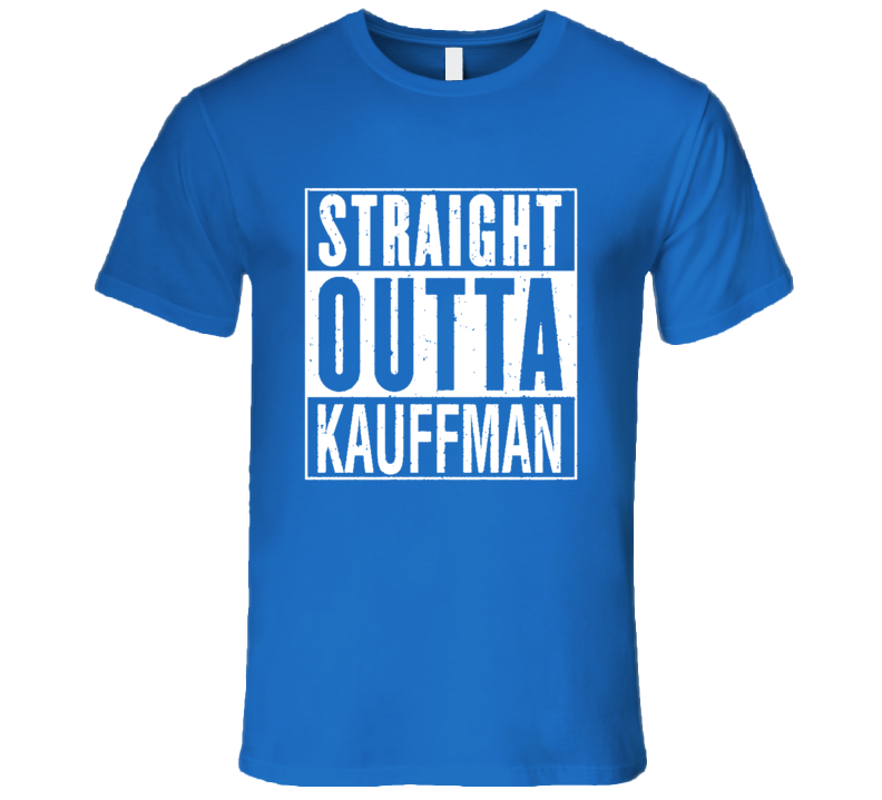 Straight Outta Kauffman Funny Bad Boy Kansas City Baseball T Shirt