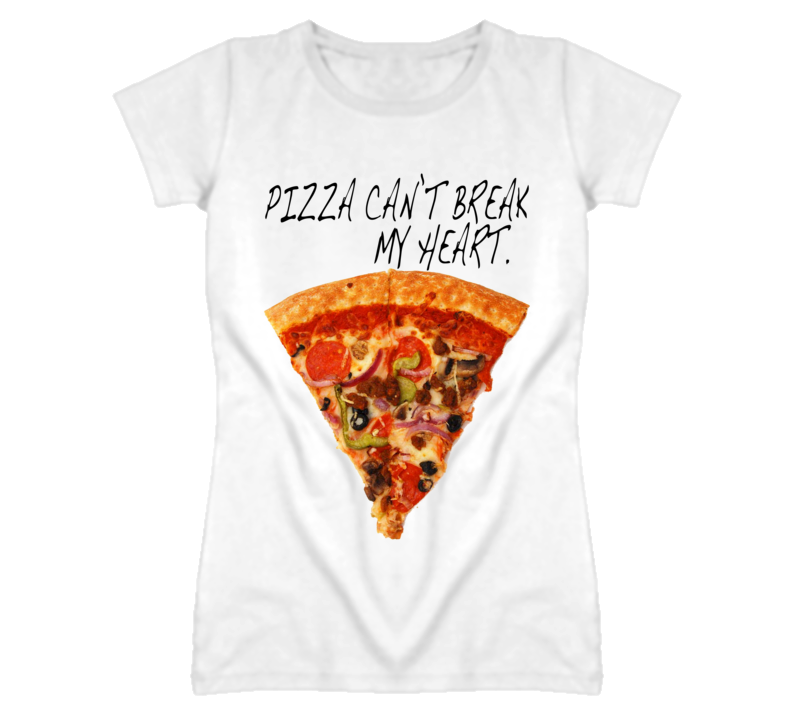 Pizza Can't Break My Heart Funny Graphic Food T Shirt