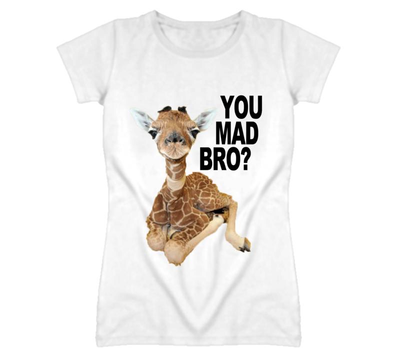 Baby Giraffe You Mad Bro Cute Funny Graphic T Shirt
