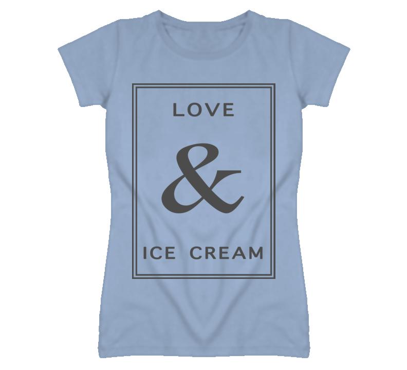 Love And Ice Cream Graphic T Shirt